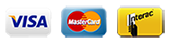 we accept visa mastercard and interac